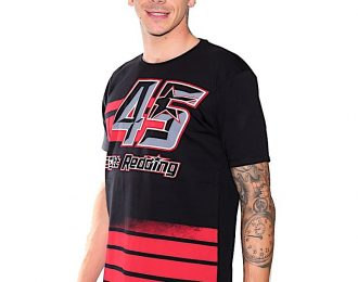 Scott Redding Mens T-Shirt Black with stripes