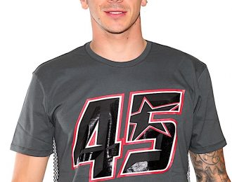 Scott Redding Mens T-Shirt Grey Flag